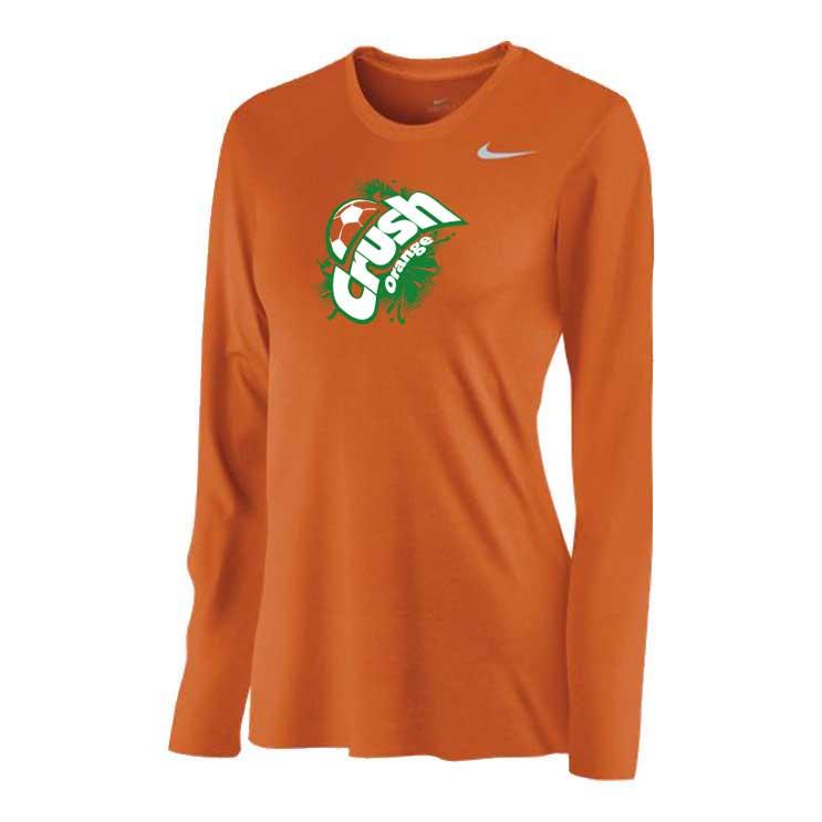 9712c33b3e8197 Nike Team Legend Long Sleeve Crew - Women's - Atlantic Sportswear