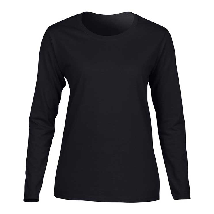 Atlantic Sportswear Heavyweight 100% Cotton T-Shirt – Long Sleeve – Women s 61e1a968ae