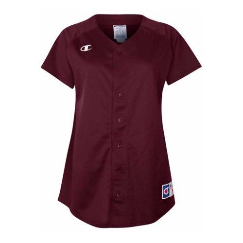 7c424ecb02a7a Champion Full Button Short Sleeve Jersey – Women s