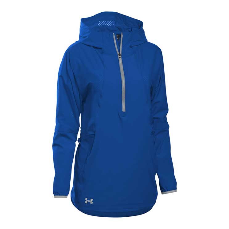 Under Armour Squad Woven 12 Zip Womens Atlantic Sportswear